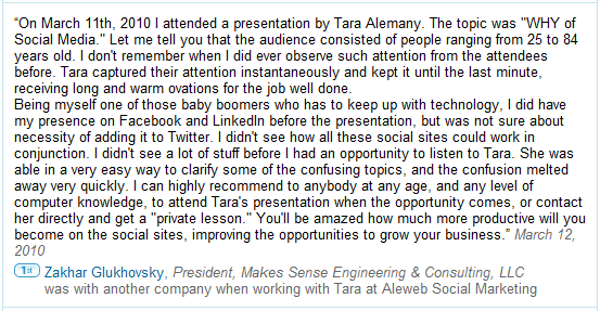 Zakhar Glukhovsky's recommendation